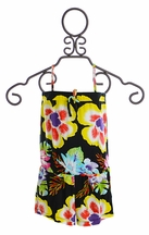 Flowers By Zoe Hawaiian Romper for Girls (Size LG 10/12)