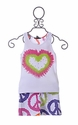Flowers by Zoe Heart Peace Tween Shorts Set