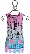 Flowers By Zoe Hi-Low Tank Top in Tie Dye