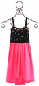 Flowers By Zoe Jeweled Neon Pink Hi Low Girls Dress
