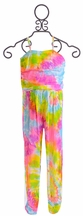Flowers by Zoe Jumpsuit for Tweens in Tie Dye (Size XL12/14)