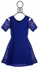 Flowers by Zoe Lace Dress Royal Blue