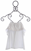 Flowers By Zoe Lace Trim Tank Top Universal White