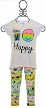 Flowers by Zoe Leggings with Tee Be Happy
