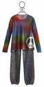 Flowers By Zoe Leopard Tween Sweat Pant and Peace Top (Size MD 10)