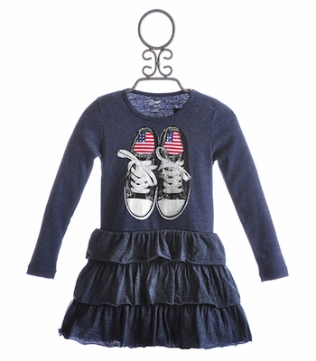 Flowers By Zoe Little Girls Ruffle Dress Classic Sneakers
