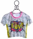 Flowers By Zoe Love Girls Summer Top Short Sleeve