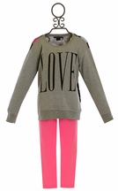 Flowers by Zoe Love Sweatshirt and Pink Legging