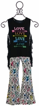 Flowers by Zoe Love Tank with Flare Pants for Girls