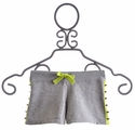 Flowers By Zoe Misty Grey Studded Tween Shorts