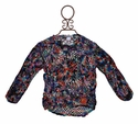Flowers By Zoe Multi Colored Tween Crocheted Top