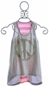 Flowers By Zoe Neon and Grey Studded Peace Tank