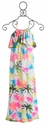 Flowers By Zoe Neon Palm Beach Tween Maxi Dress
