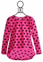 Flowers By Zoe Neon Pink Heart Tunic for Tweens
