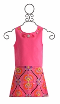 Flowers by Zoe Neon Pink Sequin Skirt Set (Size XL 12/14)