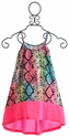 Flowers by Zoe Neon Pink Snake Print Girls Dress
