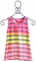 Flowers By Zoe Neon Stripe Crossover Tween Top