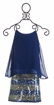 Flowers by Zoe Party Dress in Royal Blue (Size LG 10/12)