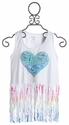 Flowers By Zoe Pastel Fringe Heart Tank