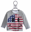 Flowers By Zoe Patriotic Grey Tween Sweater