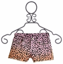 Flowers By Zoe Pink and Melon Leopard Tween Shorts