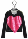 Flowers By Zoe Pink Sequin Heart Tween Top