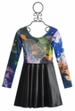 Flowers By Zoe Pleather Tween Dress with Sequin Heart