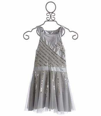 Flowers By Zoe Radiant Beading Silver Tween Dress