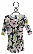 Flowers by Zoe Romper for Tweens in Flower Print (LG 10/12 & XL 12/14)