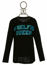 Flowers by Zoe Selfie Queen Top in Black