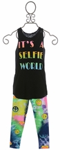 Flowers by Zoe Selfie Tank Top with Leggings (4,5,6X)