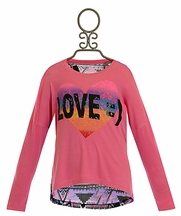 Flowers by Zoe Sequin Love Heart Top (LG 10/12 & XL 12/14)