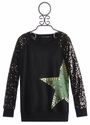 Flowers By Zoe Sequin Sleeve Sweatshirt with Large Star