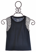 Flowers By Zoe Sequin Sleeve Top for Girls (MD 10 & LG 10/12)