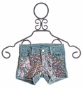 Flowers By Zoe Sequin Tween Denim Shorts