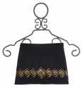 Flowers By Zoe Black Mini-Skirt with Gold Sequins