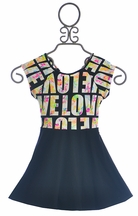 Flowers By Zoe Skater Girl Dress with Criss Cross Back