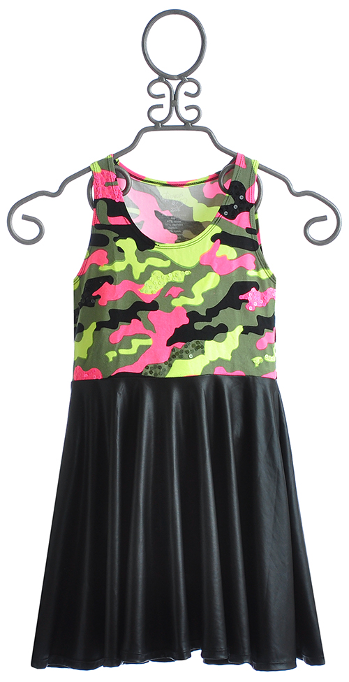 Flowers By Zoe Tween Dress In Camo And Pleather 4 Lg 10