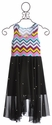 Flowers By Zoe Sleeveless Tween Dress in Chevron