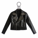 Flowers By Zoe Studded Pleather Jacket for Tweens