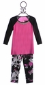 Flowers By Zoe Stylish Tween Pink Top with Splatter Leggings