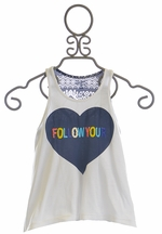 Flowers By Zoe Tank Top Follow Your Heart (5,6,MD/10, LG/10/12)