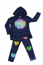 Flowers by Zoe Text Me Hoodie with Heart Legging