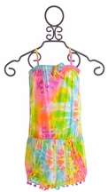 Flowers by Zoe Tie Dye Romper for Tweens (Size SM 7/8)