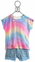 Flowers by Zoe Tie Dye Top with Studded Shorts