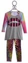 Flowers By Zoe Trendy Tween Outfit with Sequin Lips (XL 12/14)