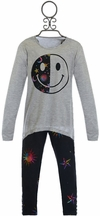 Flowers by Zoe Tunic Set with Emoji Moon and Stars (Size LG10/12)