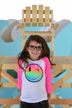 Flowers By Zoe Tween Baseball Style Tee a Smile and a Wink (MD 10 & LG 10/12)