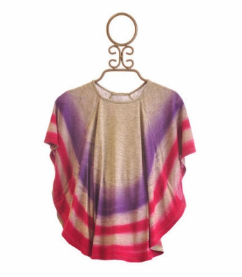 Flowers By Zoe Tween Batwing Top Dyed Stripes
