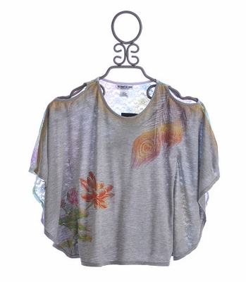 Flowers By Zoe Tween Batwing Top with Pastel Lace Back